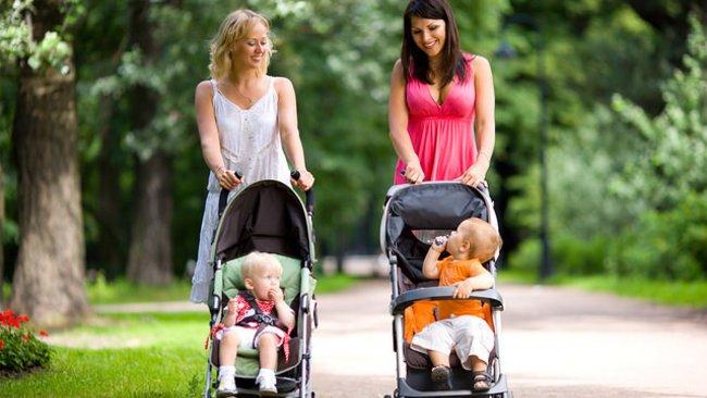 Ar livre com o bebé