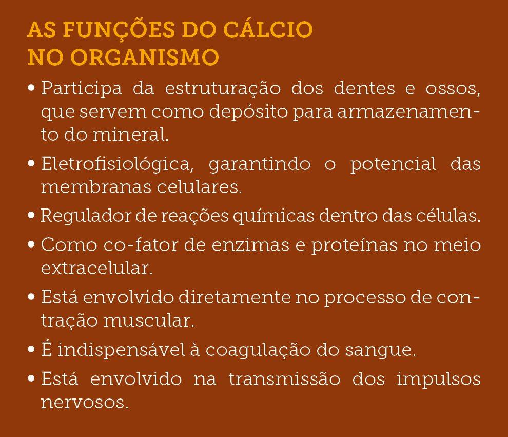 funções do calcio