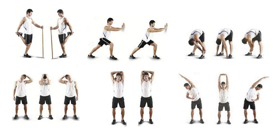 alongamentos antes do exercício