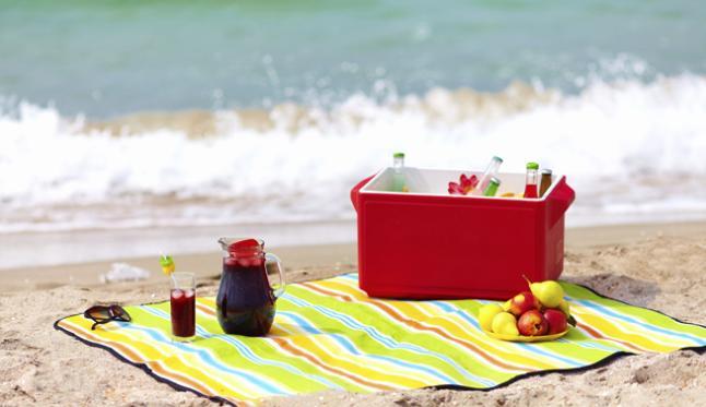 refeições saudáveis para levar para a praia