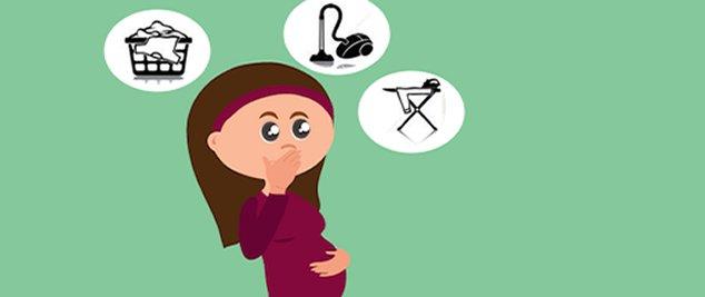 Tarefas domésticas sem esforços para as grávidas